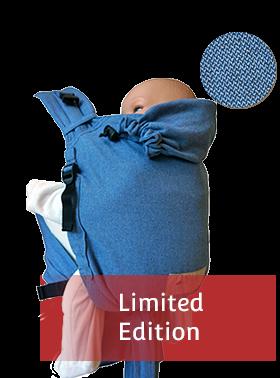 Storchenwiege Babytrage BabyCarrier soft blue