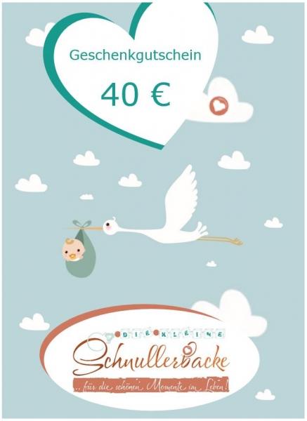 Geschenkgutschein 40 €