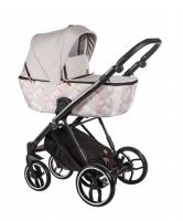 Baby Merc Kombikinderwagen La Rosa LN11 - rose-beige/schwarz