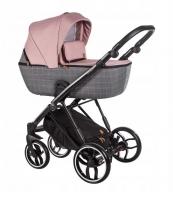 Baby Merc Kombikinderwagen La Rosa LN01 - rose-grau/schwarz