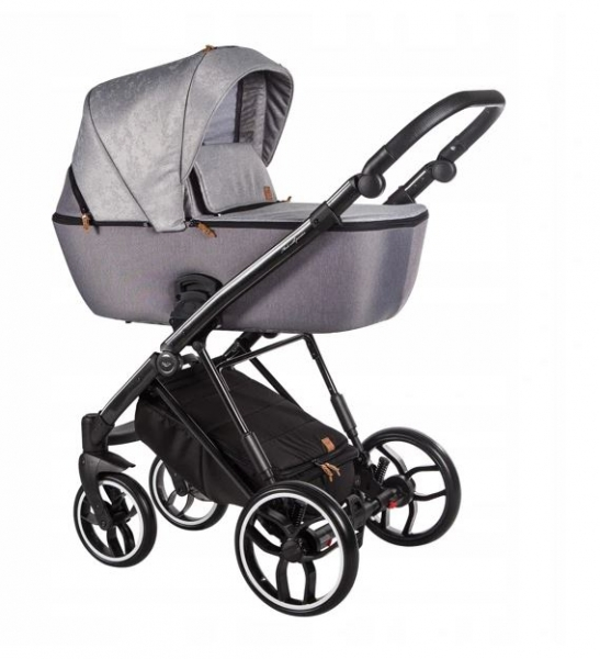 Baby Merc Kombikinderwagen La Rosa LN12 - silber/schwarz
