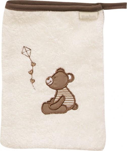 Playshoes Frottee-Waschhandschuh Bär, beige