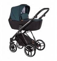 Baby Merc Kombikinderwagen La Rosa LN10 - türkis/schwarz