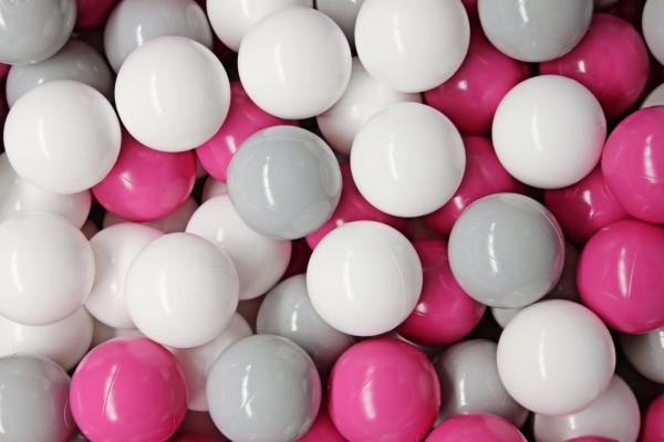 MeowBaby Ballset 50 Bälle 7 cm Set zum selber Gestalten nach Wunsch