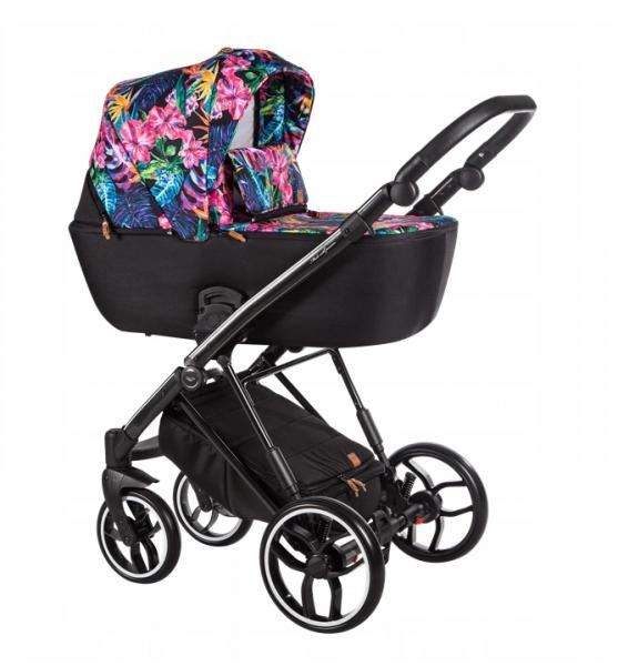 Baby Merc Kombikinderwagen La Rosa LNL09 - flower/schwarz