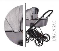Baby Merc Kombikinderwagen La Rosa Ltd. LN12 - grau/schwarz