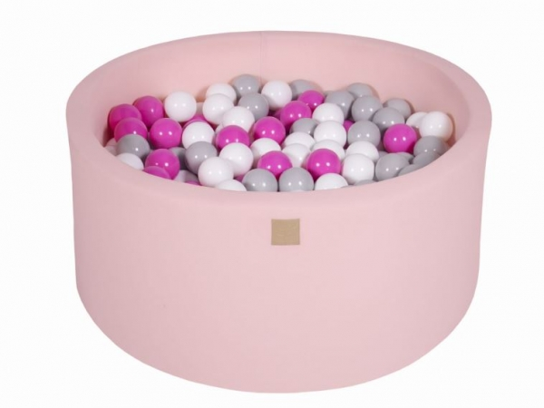 MeowBaby Bällebad 90X40cm Pink (Grau/Weiß/Hellrosa) 300 Bälle