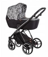 Baby Merc Kombikinderwagen La Rosa LN04 - grau-weiß/schwarz